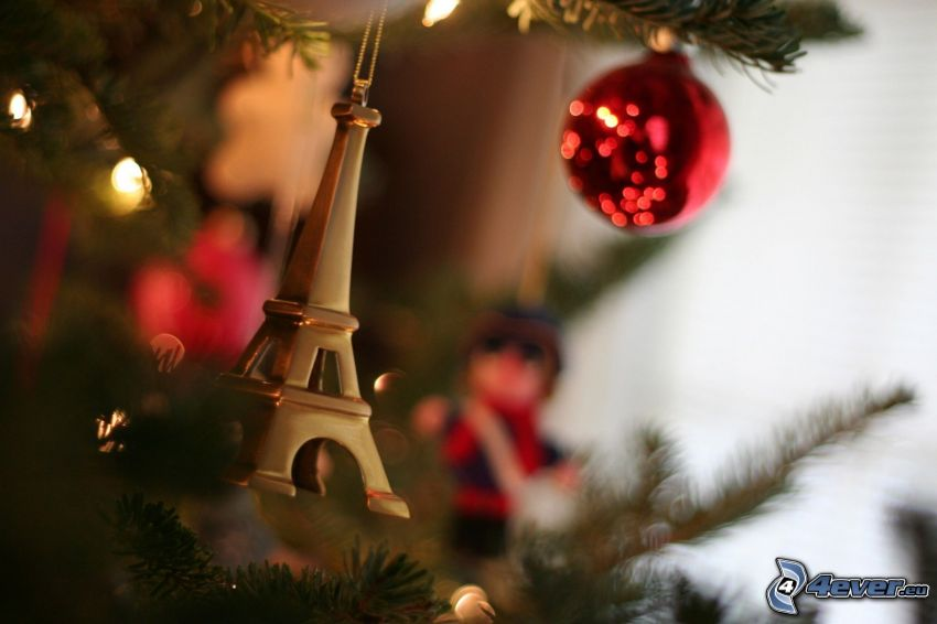 julgran, Eiffeltornet