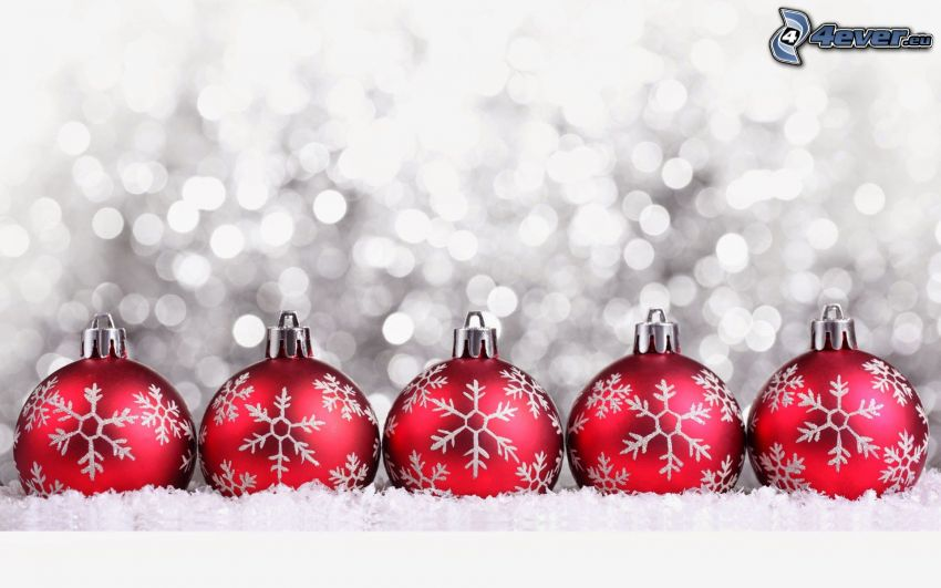julgranskulor, snöflingor