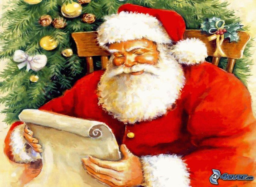 Jultomten, brev