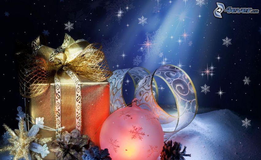 present, julgranskula