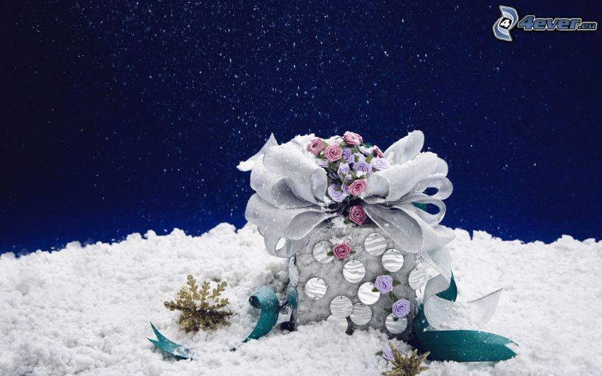 present, snö