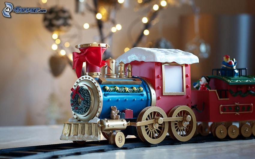 tåg, leksak, krans