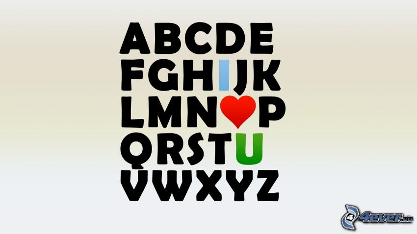 alfabetet, I love you