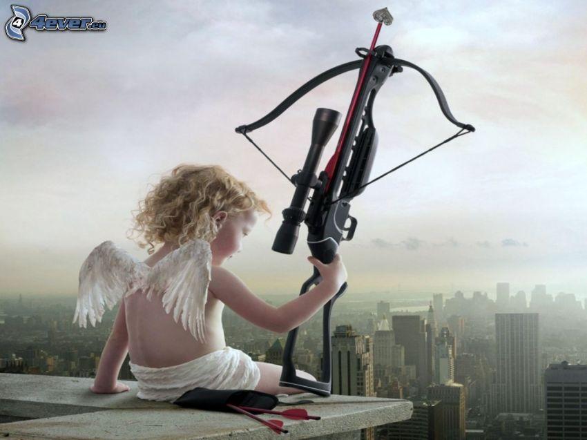 ängel, båge, Amor
