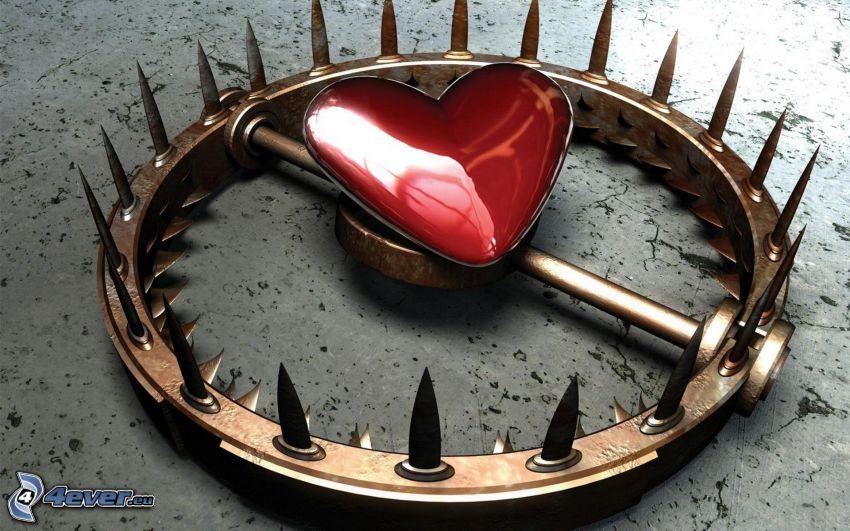 hjärta, fälla