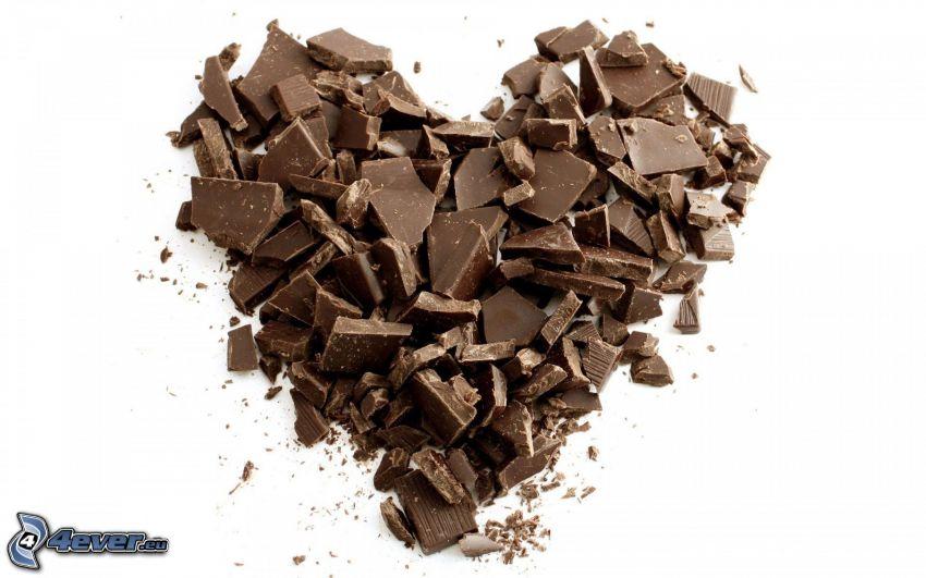 chokladhjärta, choklad