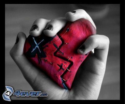 emohjärta, hand