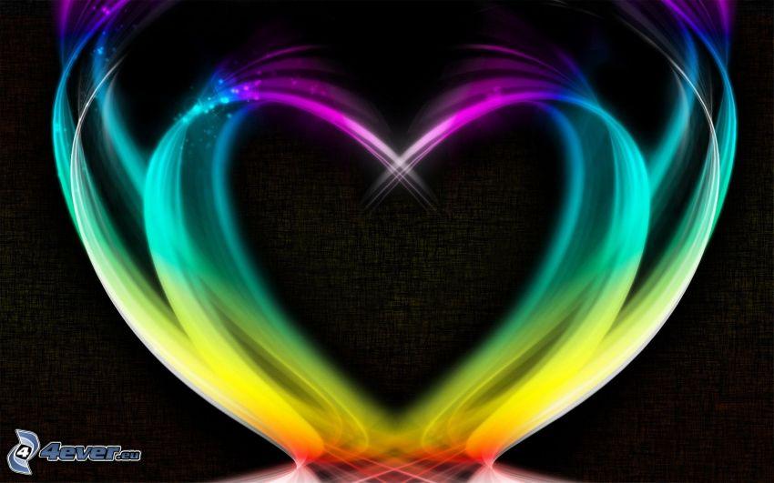färggrannt hjärta