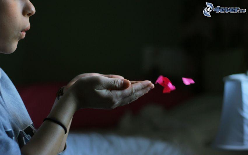 händer, hjärtan