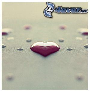 hjärta, droppe