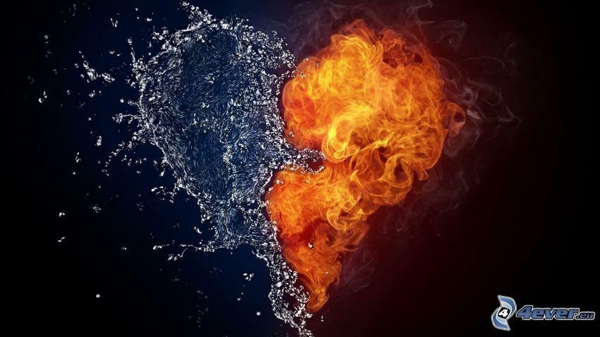 hjärta, eld och vatten