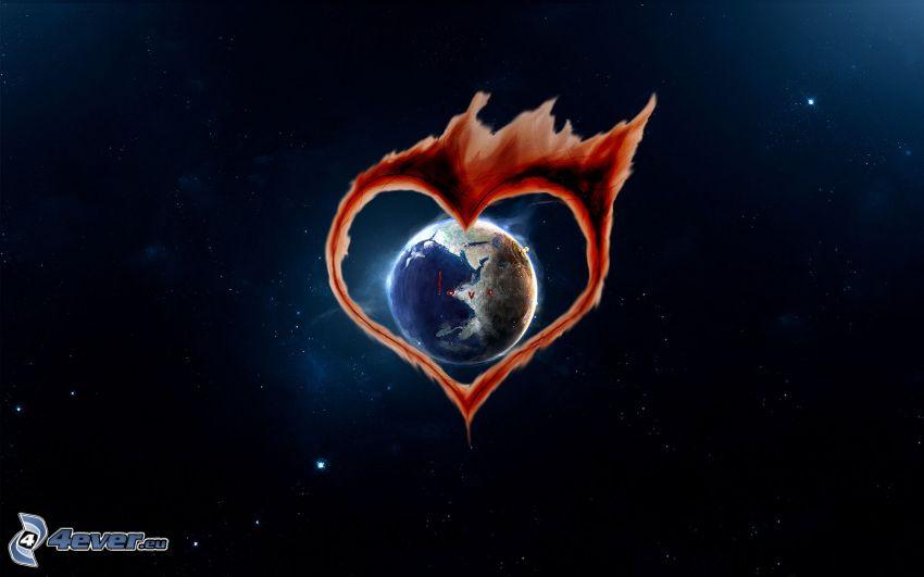 hjärta, Jorden