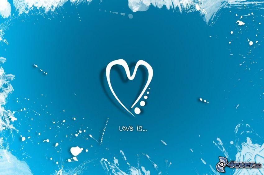 hjärta, kärlek är ...