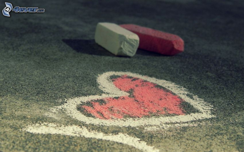 hjärta, kritor