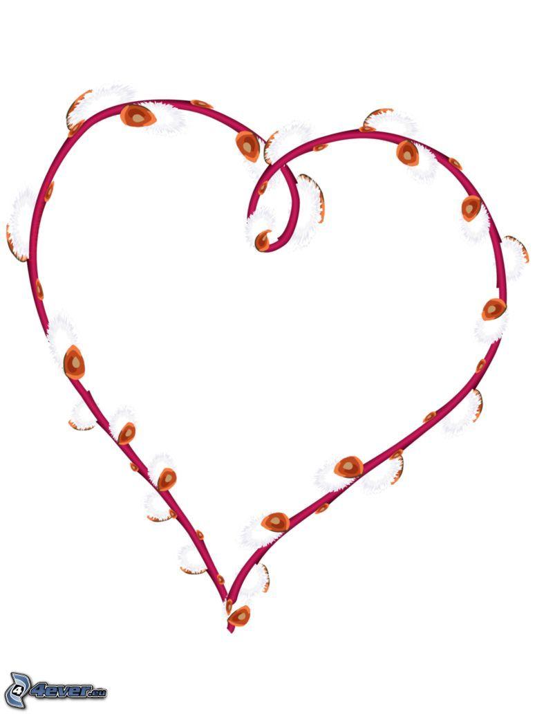 hjärta, kvist