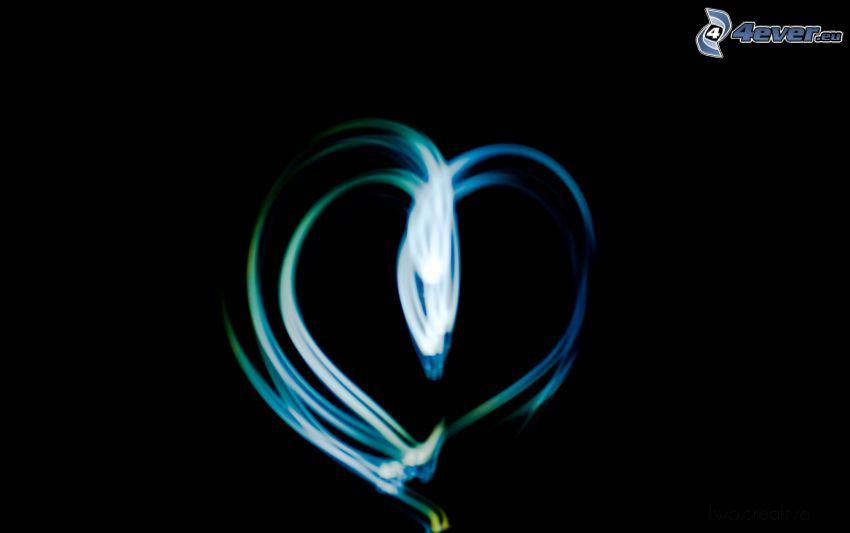 hjärta, lightpainting