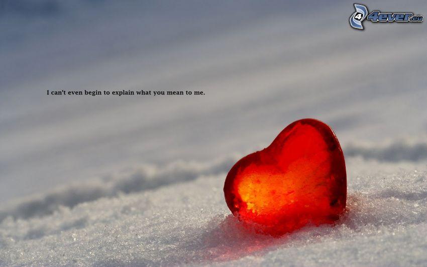 hjärta, snö