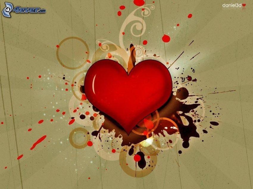 hjärta, tecknat