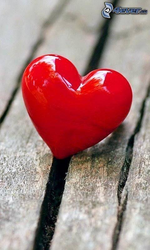 hjärta, trä