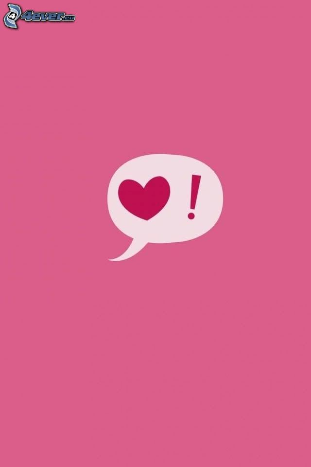 hjärta, utropstecken, bubbla