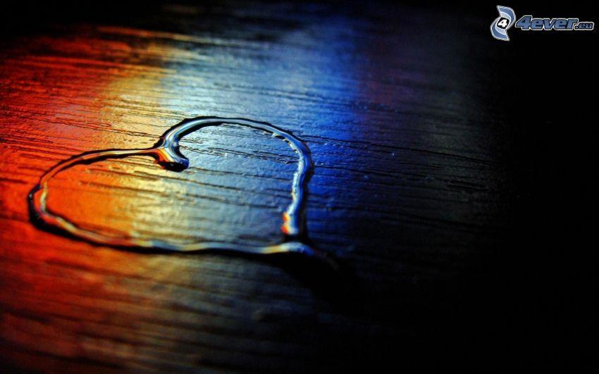 hjärta, vatten