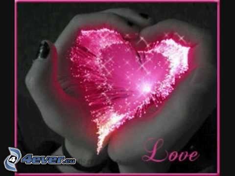 hjärta av händer, ljus, love