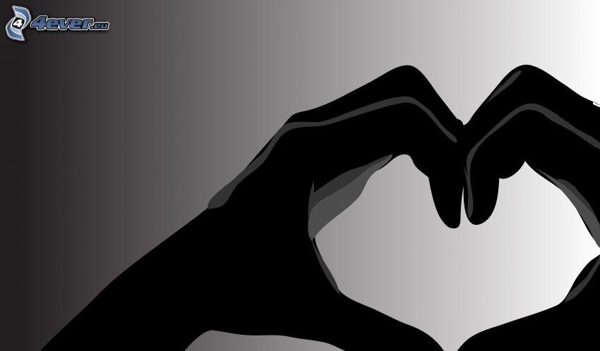 hjärta av händer
