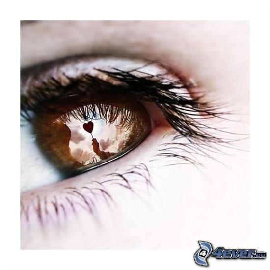 hjärta i öga, blick