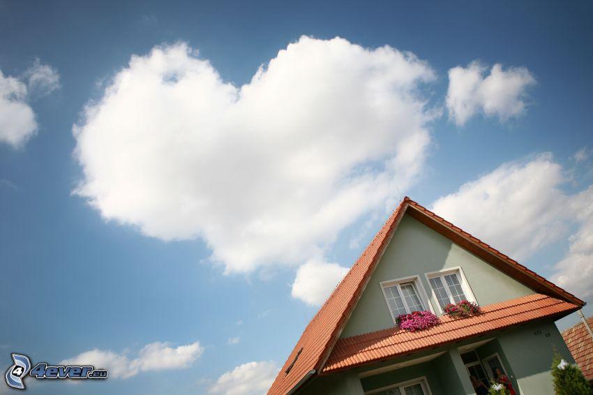 hjärta på himlen, hus