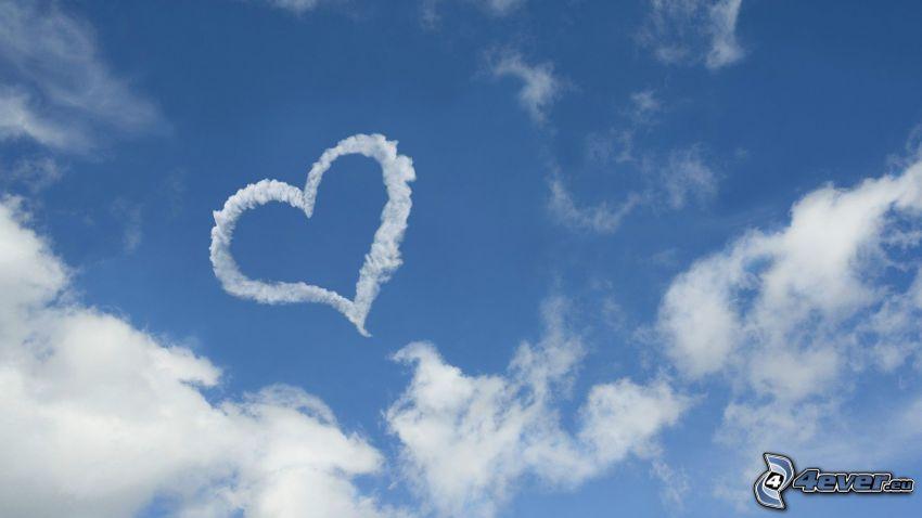 hjärta på himlen