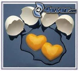 hjärtan, ägg