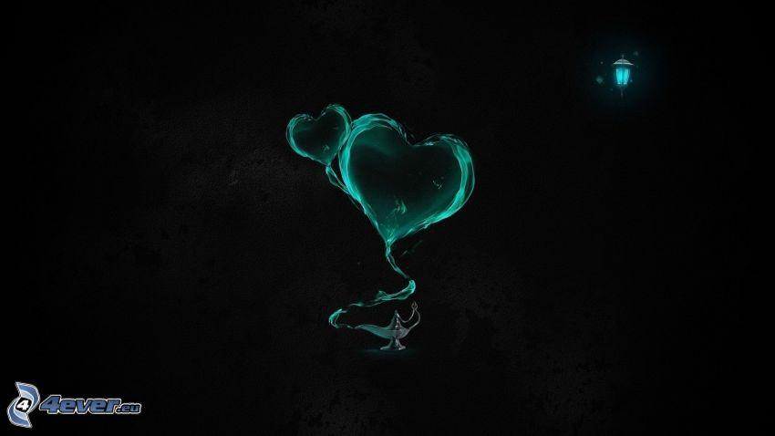 hjärtan, Aladdins lampa