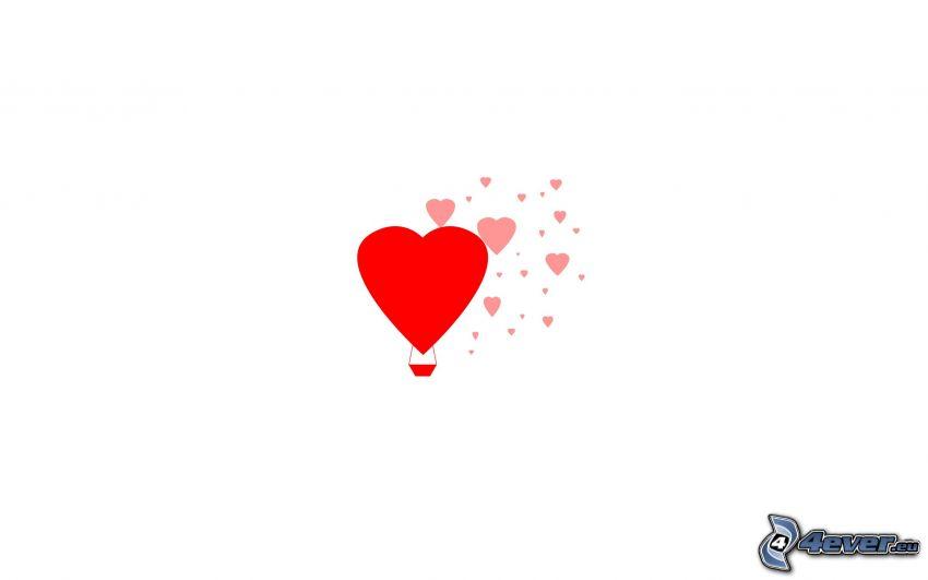 hjärtan, ballong