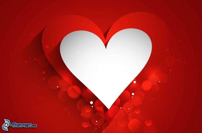 hjärtan, cirklar, röd bakgrund