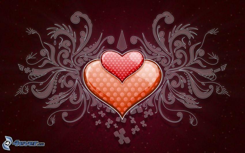 hjärtan, digital konst