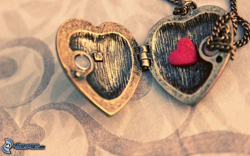 hjärtan, hänge med hjärta