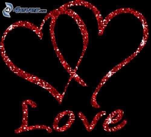 hjärtan, love