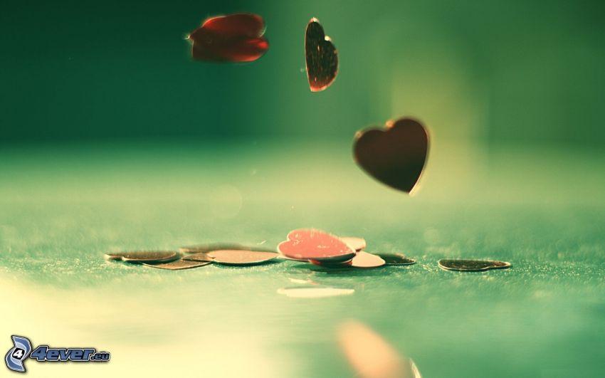 hjärtan, mynt