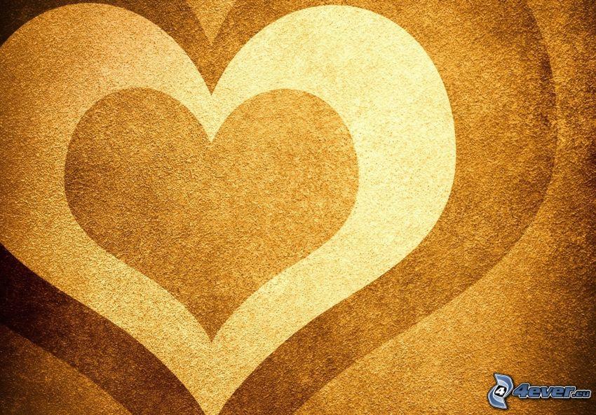 hjärtan, sand