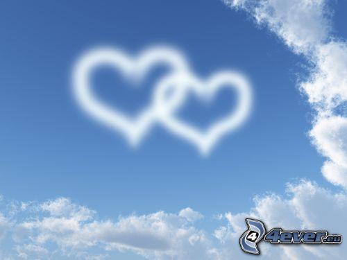 hjärtan på himlen