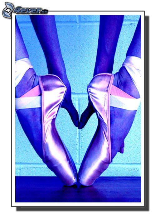 hjärtat av ben, ballerina, händer, ballerinaskor