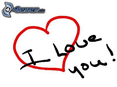 I love you, hjärta