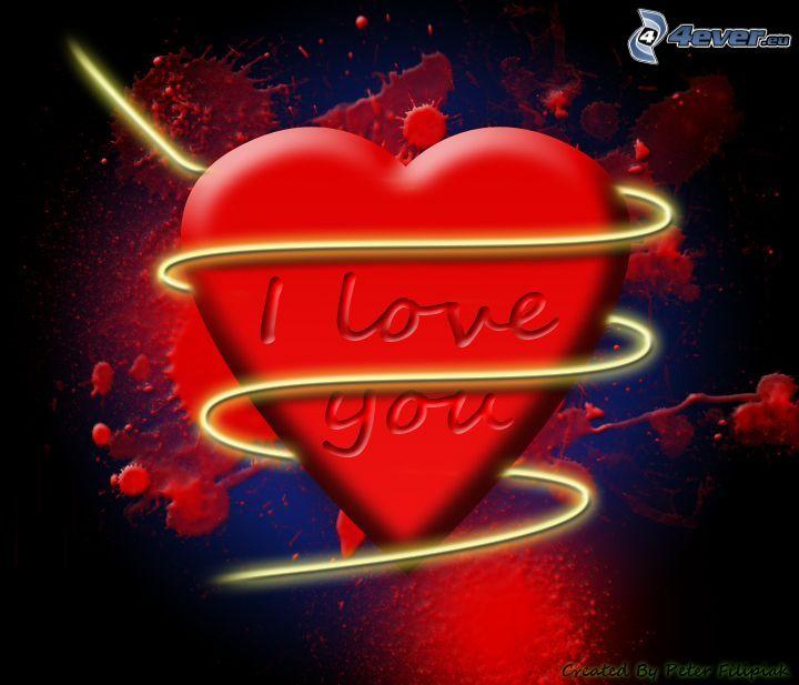 Jag älskar dig, hjärta, kärlek