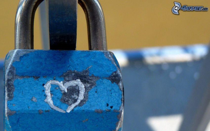 lås, hjärta