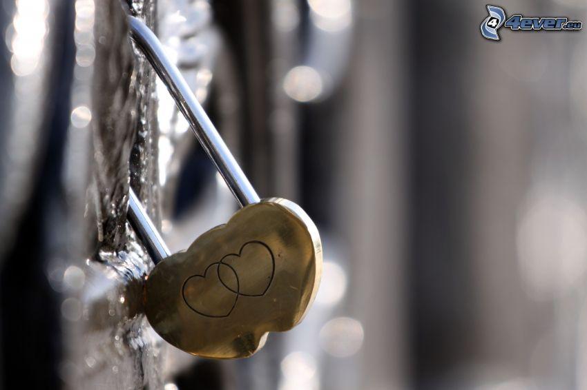 lås, hjärtan