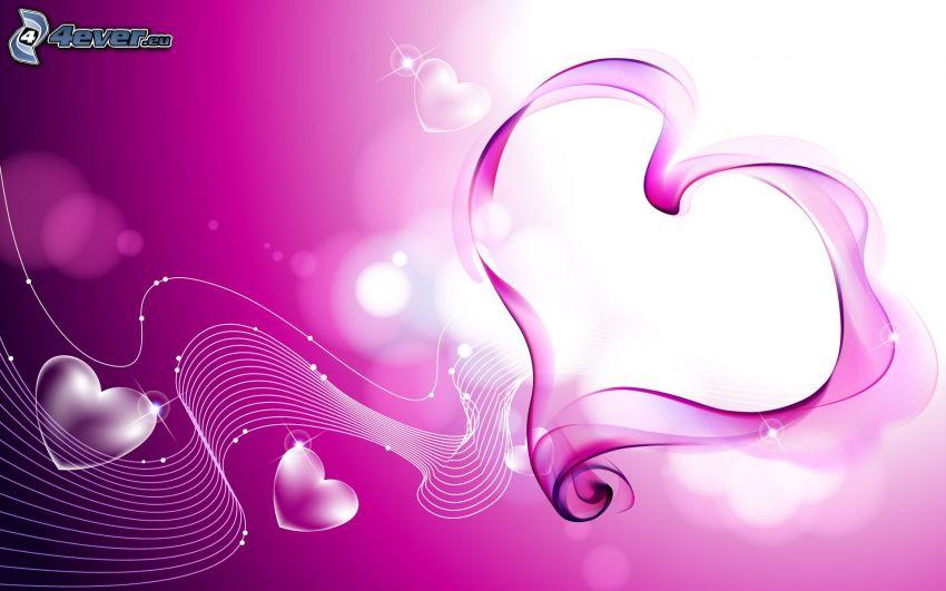 lila hjärtan, musik