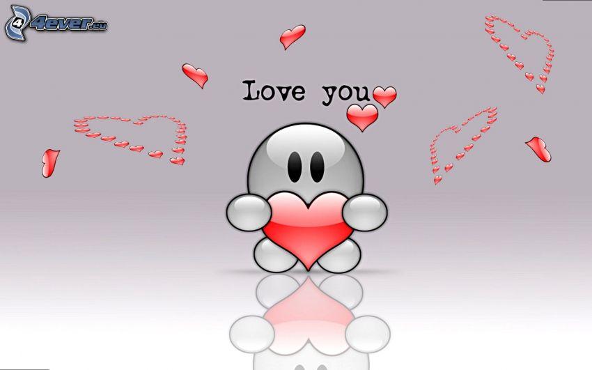 Love You, smiley, hjärta