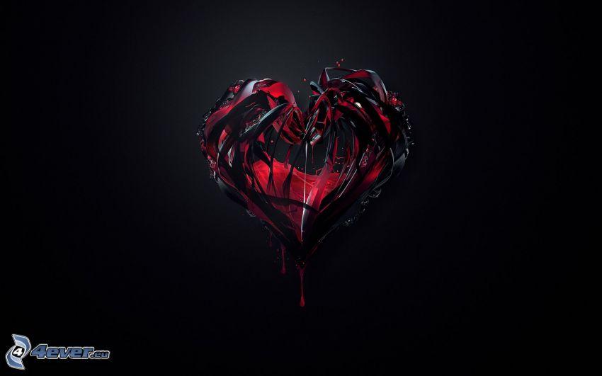 mörkt hjärta