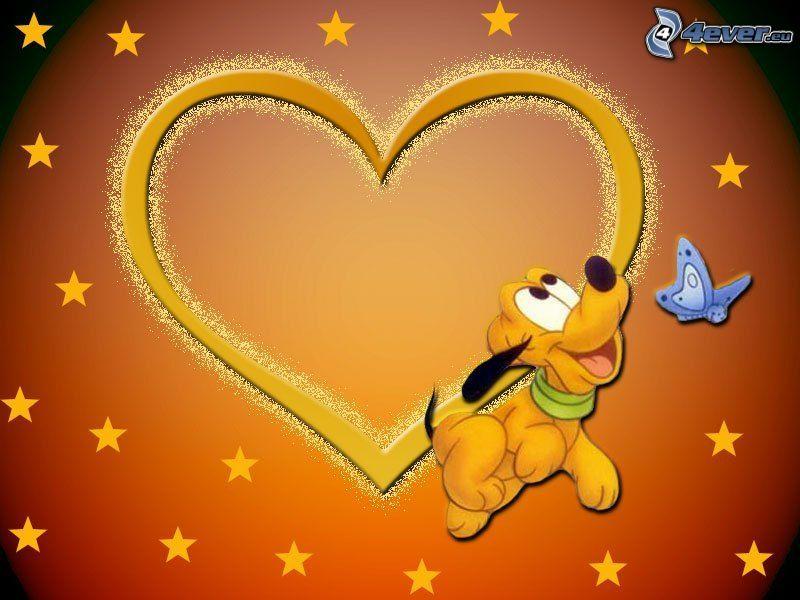 Pluto, hjärta, stjärnor