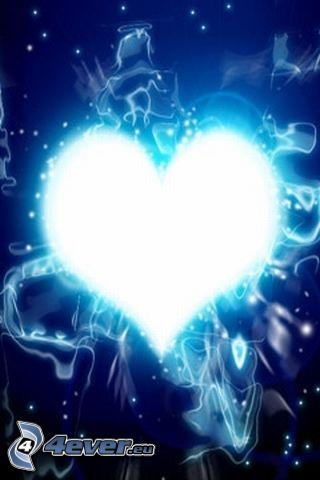 skinande hjärta